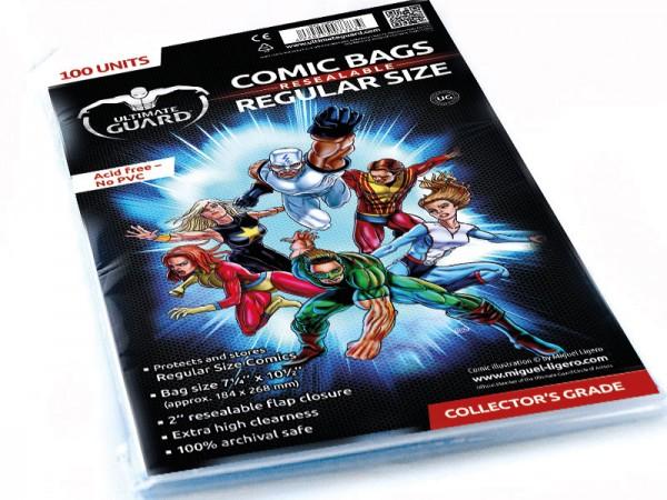 UG Resealable Comic Bags Regular Size 100 ct.
