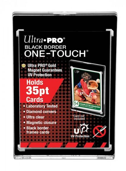 UP One-Touch Card Holder (35 pt) Black Border