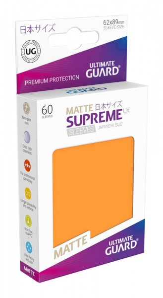 UG Supreme UX Sleeves Japan Size Matt Orange 60 ct