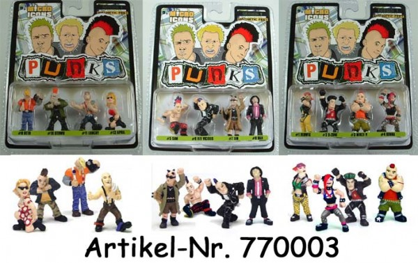 Micro Icons - PUNKS 4-Figuren Set (3 ct.)