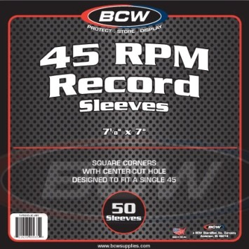 BCW Schutzfolien für Singles 45 RPM (100 ct.)