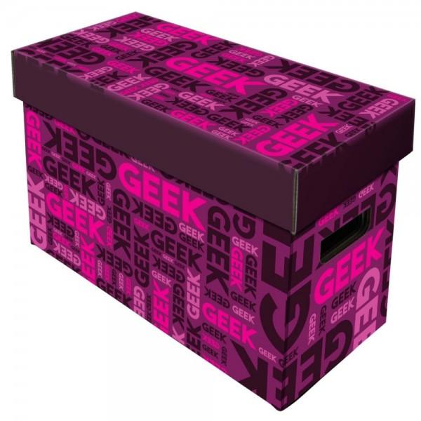 BCW Short Comic Box - Art - Geek - Pink