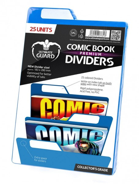 UG Premium Comic Book Dividers Blue (25 ct.)