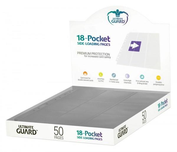 UG 18-Pocket Pages Supreme Side-Loading Grey 50ct