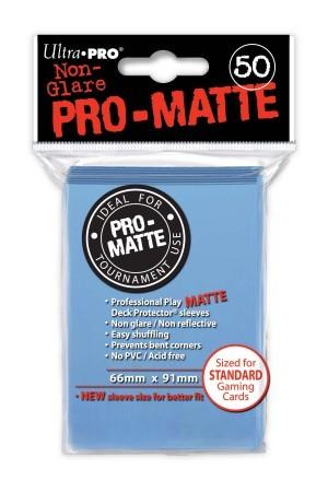 UP Pro-Matte Sleeves light blue (50 ct.)