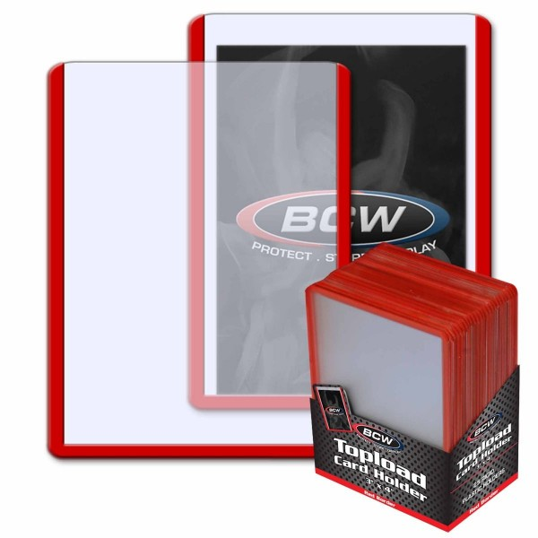 """BCW Topload 3 x 4"""" (Red Border) (25 ct.)"""