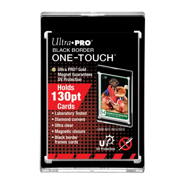 UP One-Touch Card Holder (130 pt) Black Border