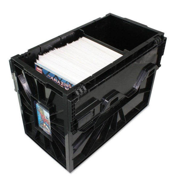 BCW Comic Book Bin Box Plastic Black