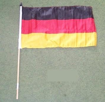Flagge Deutschland mit Stock 30 x 45 cm (12 ct.)