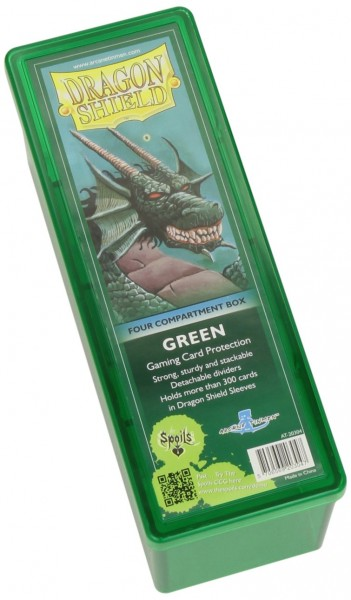 Dragon Shield Four-Compartment Storage Box Green