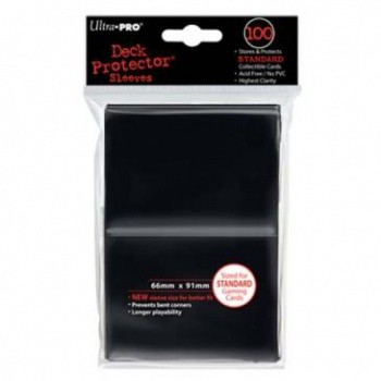 UP Deck Protector Sleeves Black (100 ct.)