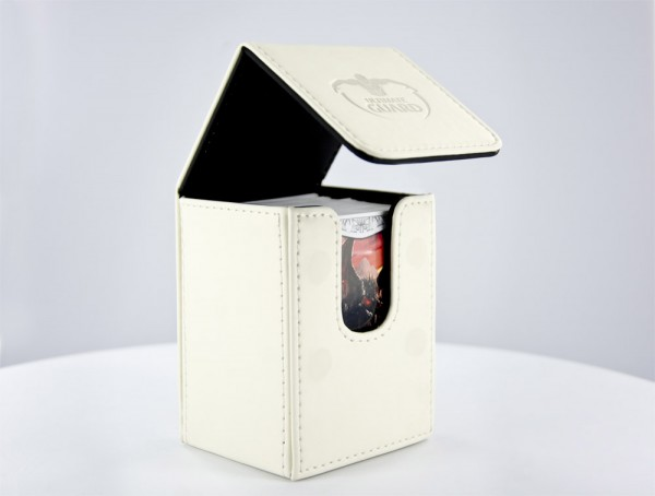 UG Flip Deck Case 80+ Leatherette White