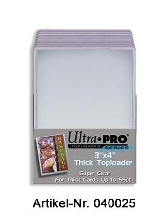 """UP Topload 3 x 4"""" (Thicker Cards 55pt) (25 ct.)"""