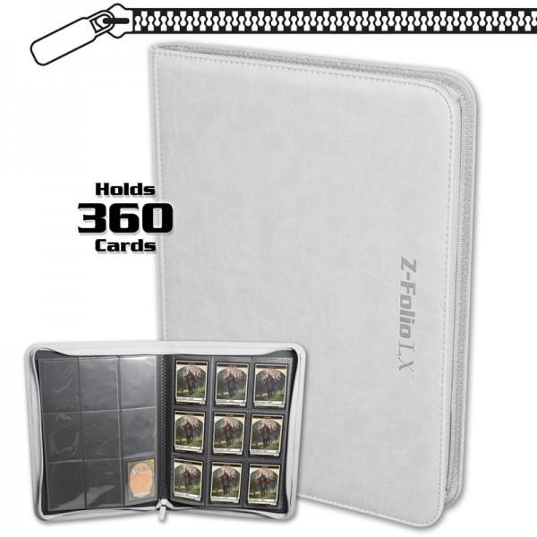 BCW Z-Folio 9-Pocket LX Portfolio White