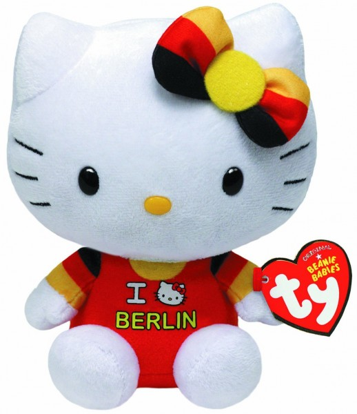 Original Beanie Babies - Hello Kitty I love Berlin