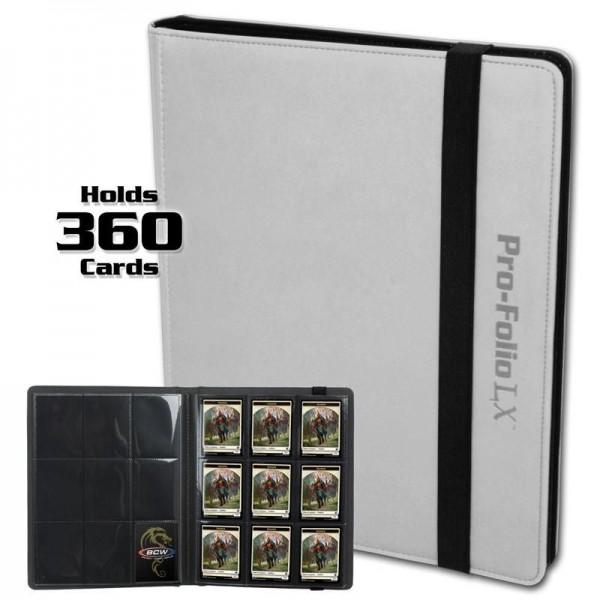 BCW Pro-Folio 9-Pocket LX Portfolio White