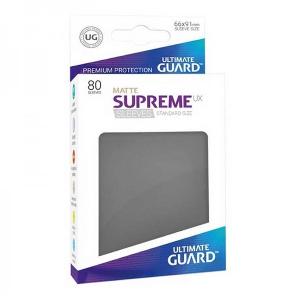 UG Supreme UX Sleeves Standard Matt Dark Grey 80ct