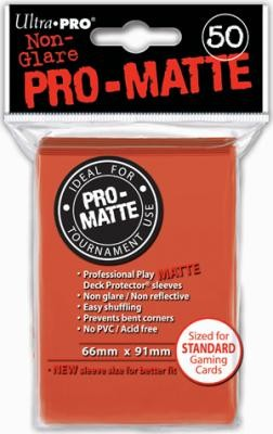 UP Pro-Matte Sleeves peach/pfirsich (50 ct.)