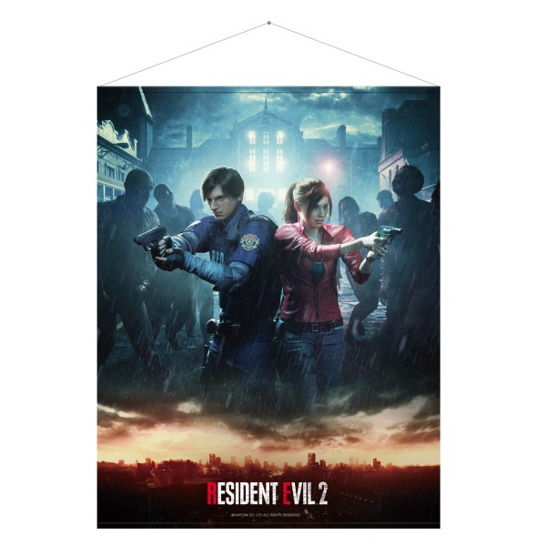 "Resident Evil 2 Wallscroll ""Leon & Claire"""