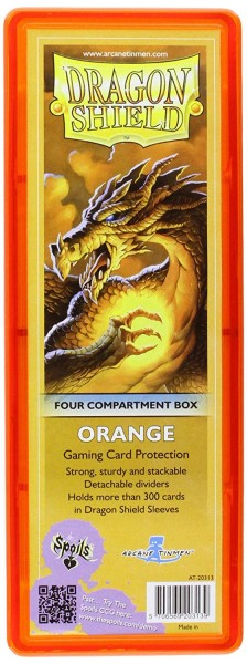 Dragon Shield Four-Compartment Storage Box Orange