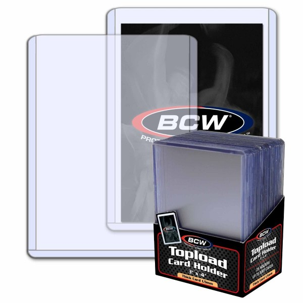 "BCW Topload 3""x4"" (Thick Cards 59 pt.) (25 ct.)"