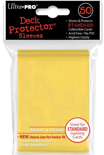 UP Deck Protector Sleeves Yellow (50 ct.)