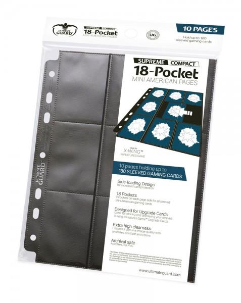 UG 18-Pocket Compact Pages MiniAmerican Black 10ct