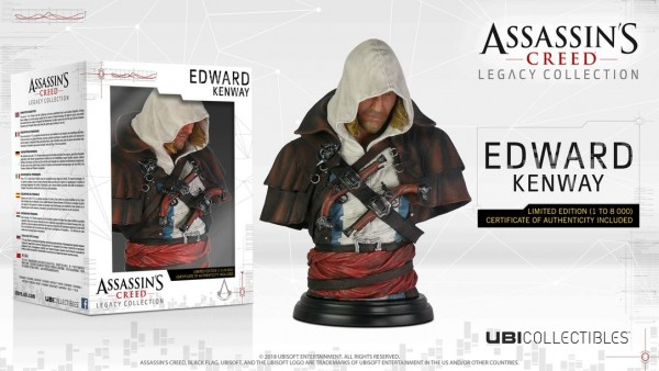 Assassin's Creed Bust Legacy Collec. Edward Kenway