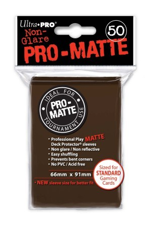 UP Pro-Matte Sleeves brown (50 ct.)