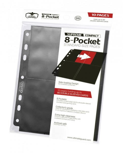 UG 8-Pocket Compact Pages Side-Loading Black 10 ct