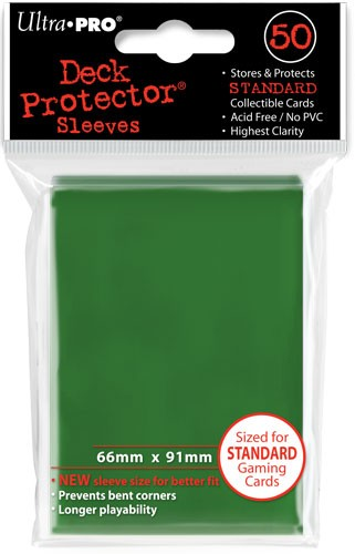 UP Deck Protector Sleeves Green (50 ct.)