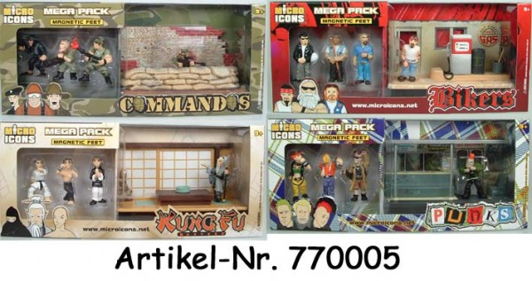 Micro Icons Diorama Mega Pack Set (4 ct.)