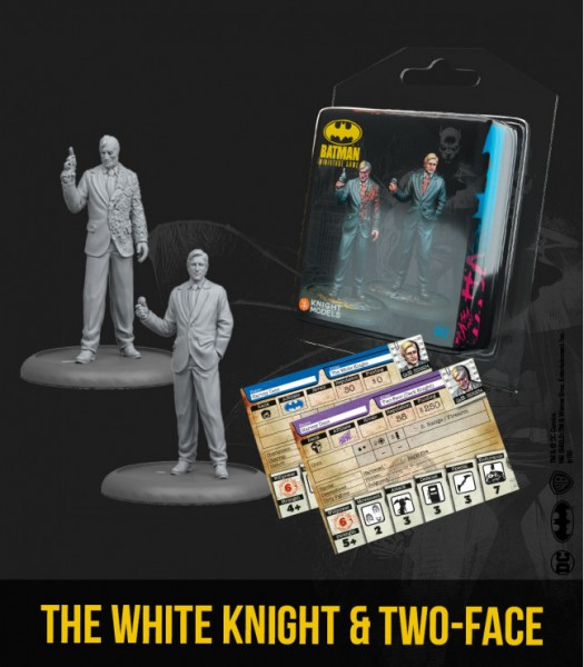 Batman Miniature Game-The White Knight & Two Face