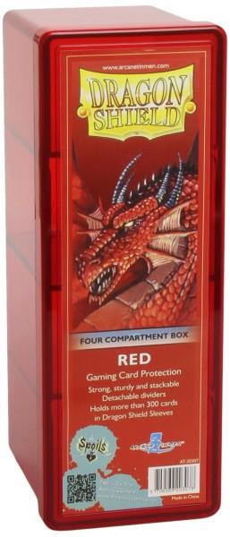 Dragon Shield Four-Compartment Storage Box Red