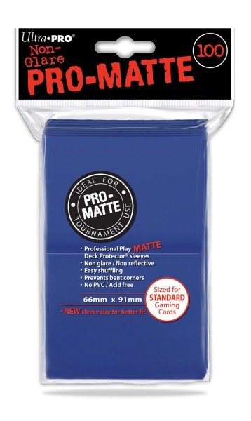 UP Pro-Matte Sleeves blue (100 ct.)