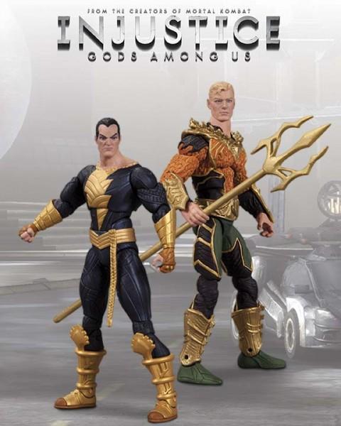 Injustice - Aquaman vs. Black Adam 9 cm 2-Pack
