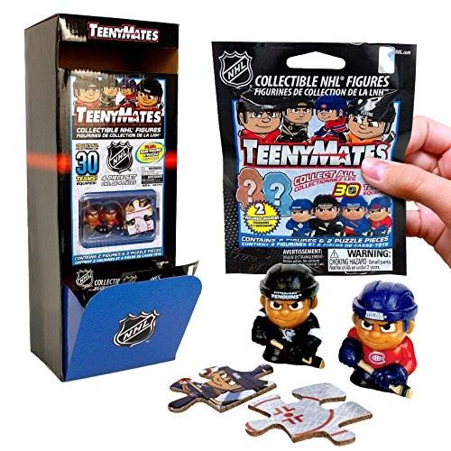 NHL TeenyMates Series 1 Figures/Puzzle Bag
