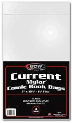 BCW Mylar® Comic Book Bags Current (25 ct.) 4-Mil