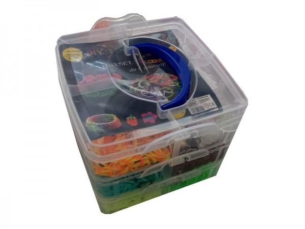 DIY Loom Bands - XL 3-reihige Box 3000 Bänder