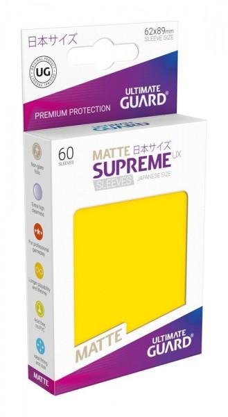 UG Supreme UX Sleeves Japan Size Matt Yellow 60 ct