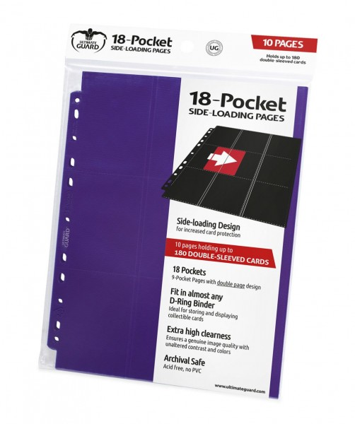 UG 18-Pocket Pages Side-Loading Purple 10 ct.