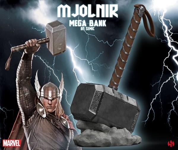 Marvel Thor´s Mjolnir Mega Bust Bank/Spardose
