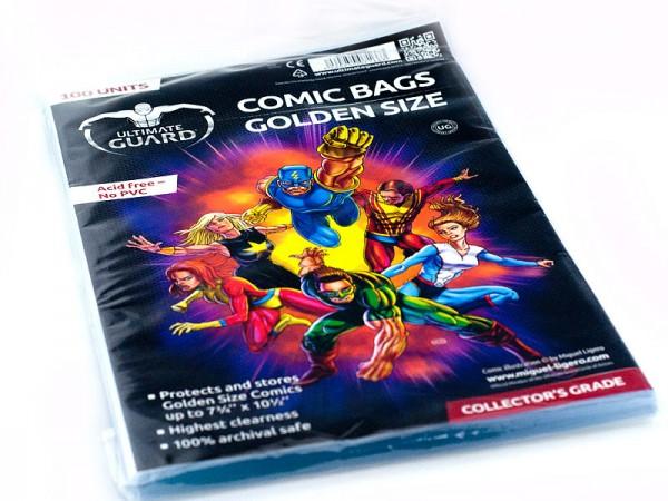 UG Comic Bags Golden Size 100 ct.