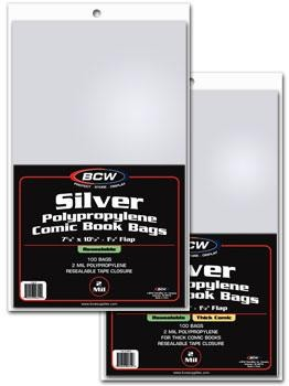 BCW Resealable Silver Comic Book Bags (100 ct.)