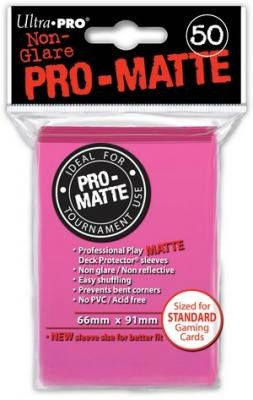 UP Pro-Matte Sleeves bright pink (50 ct.)