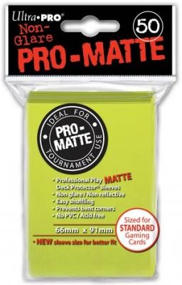UP Pro-Matte Sleeves bright yellow (50 ct.)