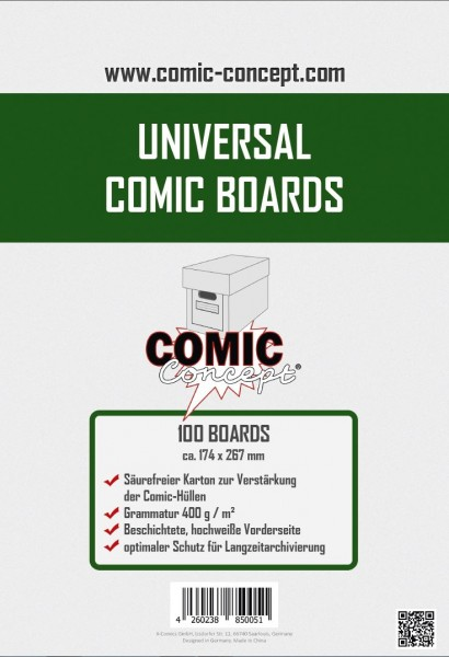 Comic Concept Mid-Size Comic Boards (100 ct.)