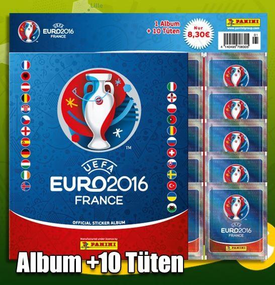 2016 UEFA EURO 2016 Album + 10 Tüten (Starter)