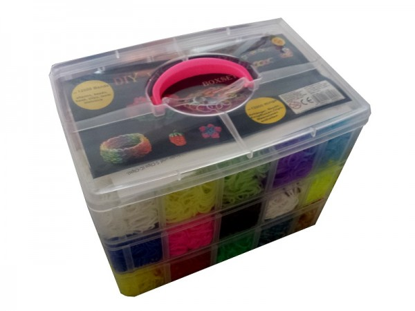 DIY Loom Bands - XXXL 3-reihige Box 12000 Bänder