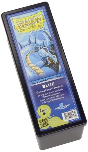 Dragon Shield Four-Compartment Storage Box Blue